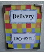 Linda Grayson gift flip magnet Delivery or Take... - $5.00
