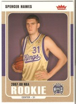 Spencer Hawes Fleer 07-08 #216 Glossy Parallel Rookie Card Sacrametno Kings - $0.75