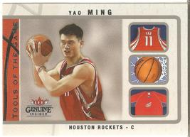 Yao Ming Fleer Genuine Inside 03-04 # 6 Tools of the Game Houston Rockets - $1.25