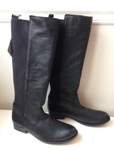 FRYE PULL-ON LEATHER KNEE HIGH RIDING BOOTS - NEW SIZE 7.5 M - $236.61
