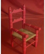 Wooden Doll Chair with Twine Seat, 60's to 70's Era  - $35.00