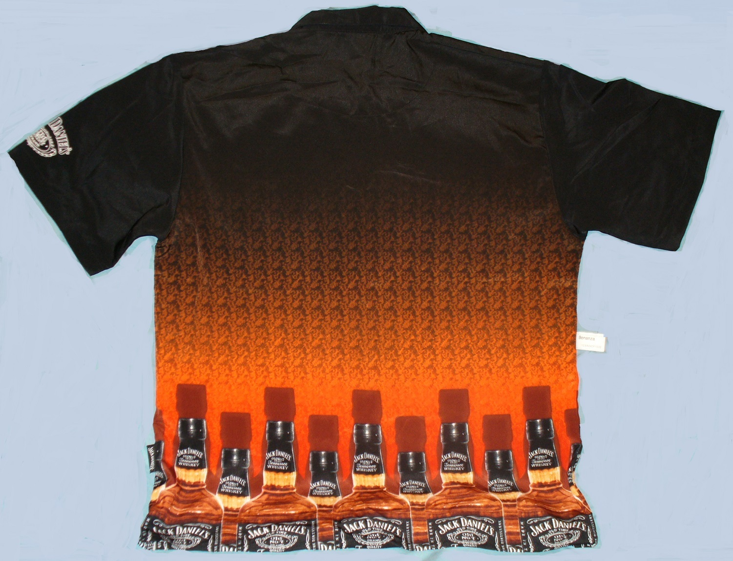 mens jack daniels old no 7 whiskey bottle camp shirt by