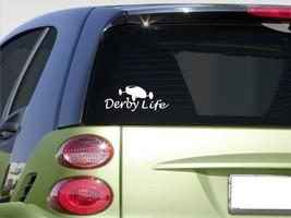 "Derby Life 8"" Sticker *E886* Soap Box Derby Car Wheels Wood Kit Racing Helmet - $3.19"
