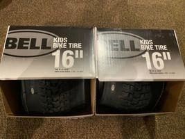 "Bell Kids Bike Tire 16"" X 2.125"" Replaces: 1.75""-2.125"" Black Set Lot of 2 New - $39.59"