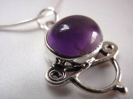 Amethyst 925 Sterling Silver Necklace New India - €17,99 EUR