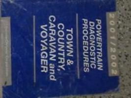 2001 Chrysler Town & Country Caravan Voyager Powertrain Diagnostics Procedures  - $12.82