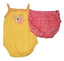 Baby Girls Fishy Diaper Set Newborn 5.5-7.5 Pounds - $13.00