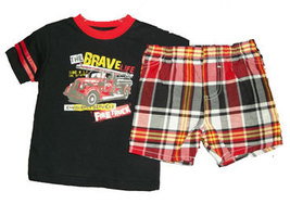 "Boys ""The Brave Life"" Short Set  - $13.00"