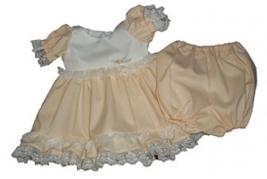 Preemie & Newborn Girls 8-13 Pounds Pounds Girls Ruffle Peach Dress Set - $30.00