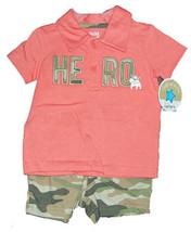 "3-6 Months Baby Boys ""Hero"" Short Set  - $13.00"
