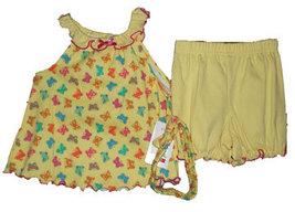 12 Months Infant Girls Butterfly 3 Piece Set  - $13.00