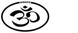 Namaste Yoga Vintage 4X6 Oval Vinyl Spiritual Sticker - $4.50