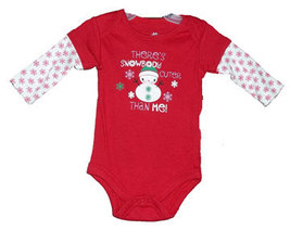 """0-3 Months Baby Girls """"There's Snowbody Cuter Than Me"""" Onesie - $9.00"""