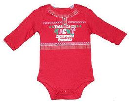 """Newborn Baby Girls """"This is My Tacky Christmas Sweater"""" Onesie - $9.00"""