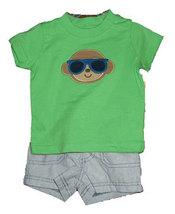 Baby Boys Monkey Short Set - $13.00