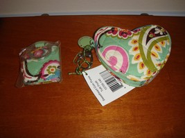 Vera Bradley Tutti Frutti Sweetheart Coin Purse & Mirror Mirror Keychain - $31.99