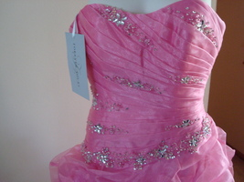 Pink Prom Dress Size 6 by Forever Yours MSRP $629 NWT  image 2