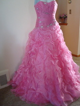 Pink Prom Dress Size 6 by Forever Yours MSRP $629 NWT  image 3