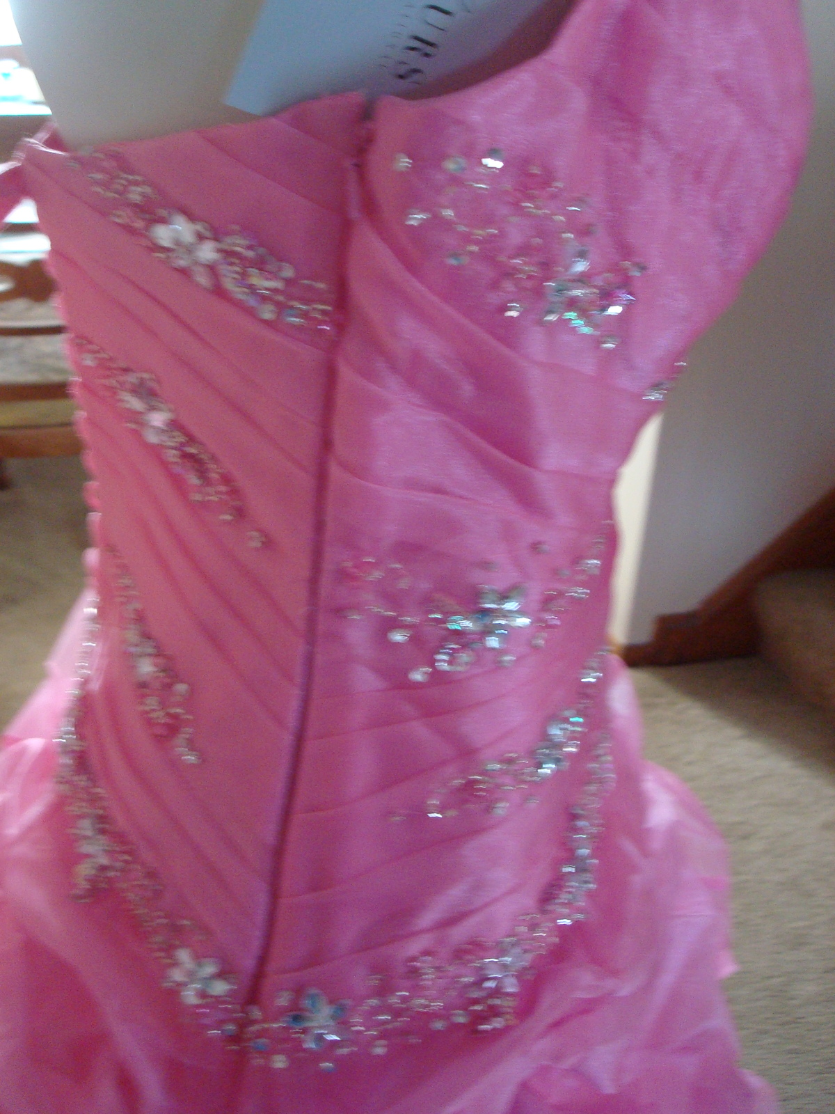 Pink Prom Dress Size 6 by Forever Yours MSRP $629 NWT  image 6