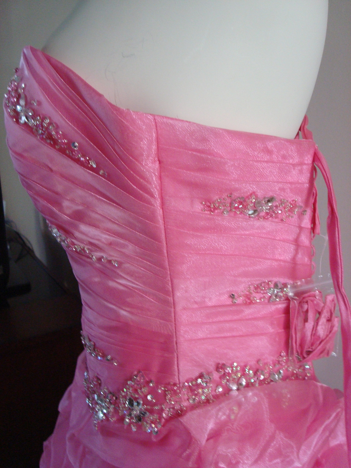 Pink Prom Dress Size 6 by Forever Yours MSRP $629 NWT  image 7