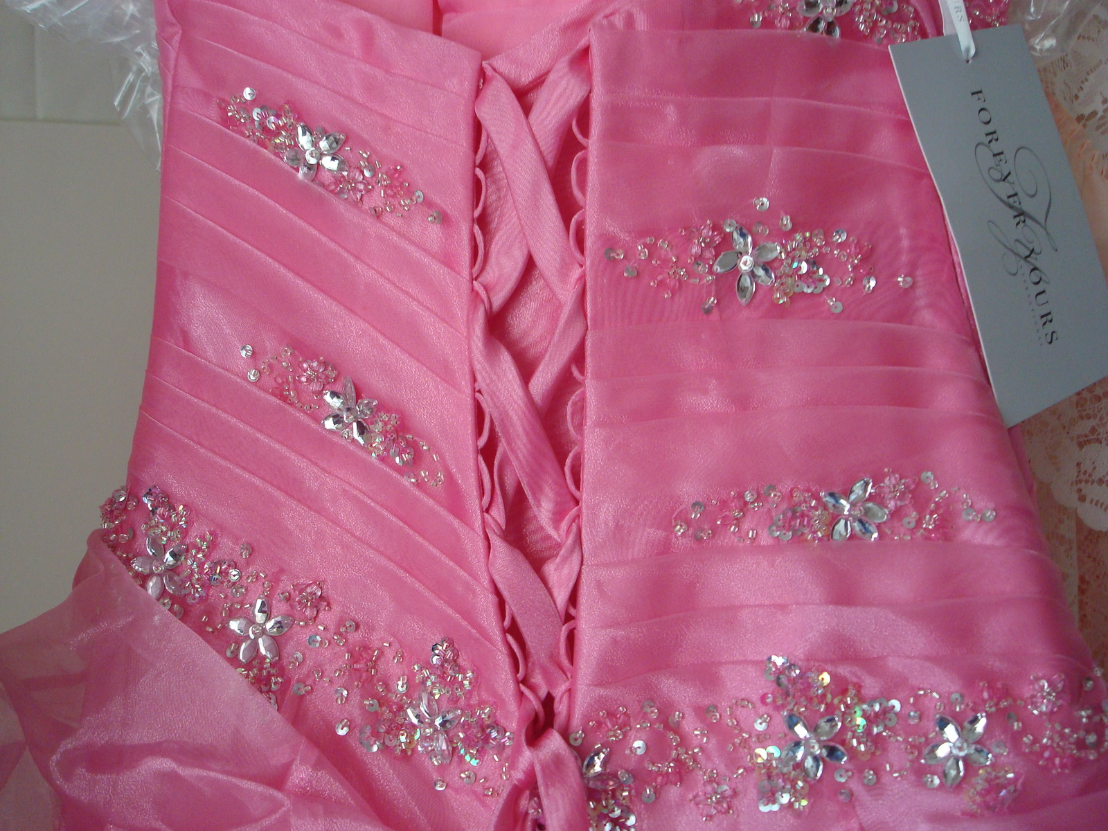 Pink Prom Dress Size 6 by Forever Yours MSRP $629 NWT  image 8