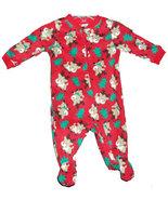 0-3 Months Baby's Christmas Reindeer Footed Sleeper - $14.00