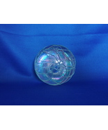 Beautiful Iridescent Interlaced  Blue Thread Art Glass Signed  Paperweight - $45.00