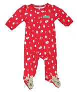 Newborn 5.5-7.5 Pounds Baby's Santa Footed Sleeper - $14.00