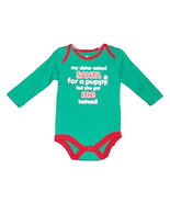 """Newborn 5.5-7.5 & Baby""""My sister asked Santa for a Puppy"""" Long Sleeve On... - $9.00"""
