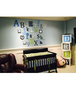 ALPHABET SET-WOODEN LETTERS-WALL LETTERS-ABC WALL - $185.00