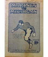 November 10, 1923 Marines vs Michigan Football Program - FULL PROGRAM - $296.99