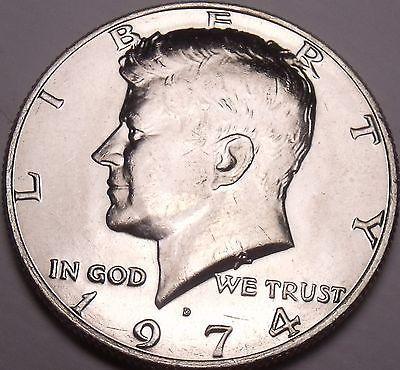 United States Unc 1974-D Kennedy Half Dollar~Free Shipping - $3.91