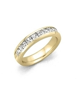 2.00 ct. t.w. Channel-Set Princess Diamond Band in 14K Yellow Gold (H-I,... - $3,329.99