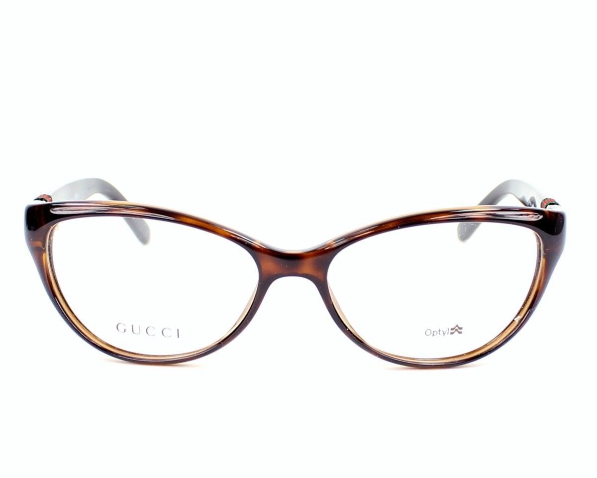 New Gucci GG 3682 2XF Havana Black Full-Frame Eyeglasses ...