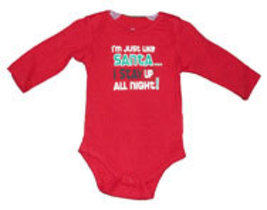 "Newborn & 0-3 Months Pounds Baby's ""I'm just like Santa...."" Onesie - $9.00"
