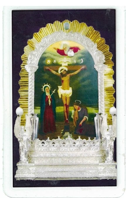 Laminated prayer card   senor de los milagros 300.0296 001