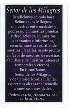 Laminated Prayer Card - Senor de los Milagros - 300.0296 image 2