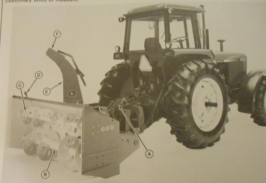 John Deere 686, 696 Snow Blowers Operator's Manual