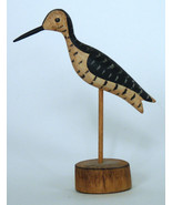 Stevens hand carved shore bird miniature folk art New England wooden scu... - $175.00
