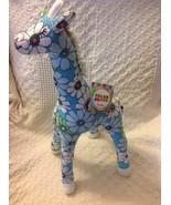 Color Zoo Grady the Giraffe Stuffed Toy Blue - $28.43
