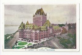 Canada Quebec Hotel Chateau Frontenac Vtg Postcard - $5.69