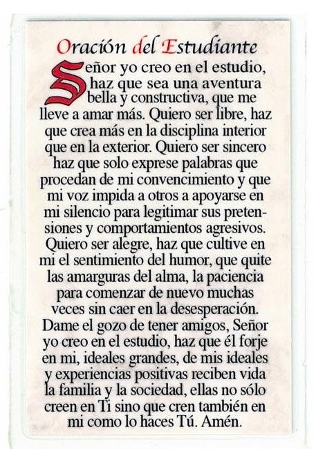 Laminated Prayer Card - San Judas Tadeo - L300.0317