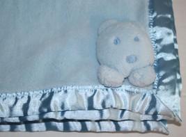 Child Of Mine Blue Bear Head Baby Blanket Face ... - $22.44