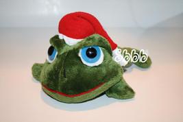 Russ Plush Lil Peepers Green Frog Red Santa Cap Blue Eyes Christmas Stuf... - $36.48
