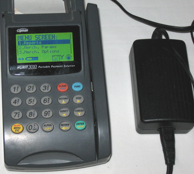 Lipman Nurit 3010 Portable Payment Solution With Power Cord