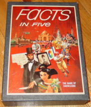 FACTS IN FIVE GAME 3M CO 1967 VINTAGE COMPLETE excellent condition - $20.00