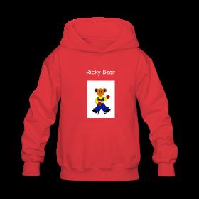 Ricky bear kids hooded sweatshirt