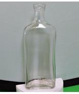 Vintage 8-Inch Medicinal/Chemical/Druggist Clear Glass Bottle - $7.95