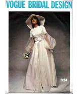 Vintage 1970's Bridal Gown & Bridesmaids' Dress Vogue Pattern 2254 - Size 8 - $19.00