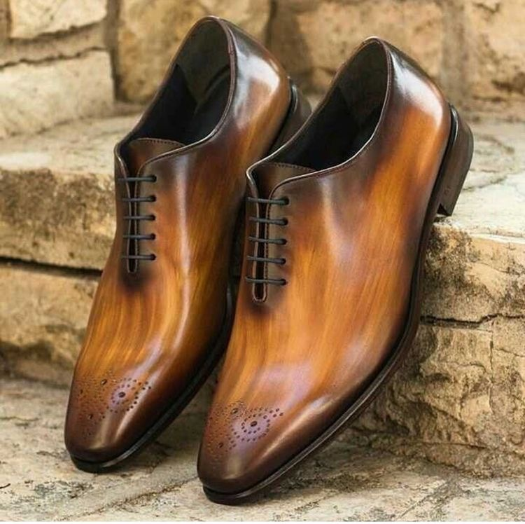 Primary image for Best Handmade Whole Cut Patina finish Leather Oxfords Custom Shoes For Men
